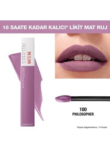 Maybelline Maybelline New York Super Stay Matte Ink Unnude Likit Mat Ruj - 100 Philosopher - Lila Kahve